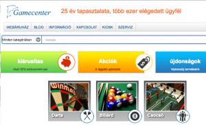 gamecenter webaruhaz